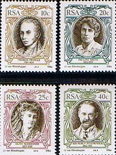 South Africa 1984 English Writers and Authors Set Fine Mint SG 554 7 Scott 626 9 Condition Fine MNH Only one post South Afrika, English Writers, Beloved Book, My Childhood Memories, My Land, Stamp Collecting, Postage Stamps, Literature, Poster
