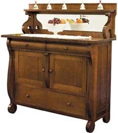 Amish Outlet Store : Millieu0027s Buffet In Oak. Dining Room ...