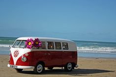 1966 Volkswagen Split Screen Camper Van on St. Agnes Beach Cornwall by Trigger's Retro Road Tests!