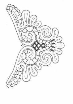 Idea for a zentangle Bobbin Lace Patterns, Bead Embroidery Patterns, Doily Patterns, Beaded Embroidery, Crochet Patterns, Paper Embroidery, Crochet Cord, Diy Crochet, Crochet Doilies