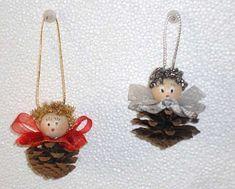 Tempo Libero: news e articoli Acorn Crafts, Christmas Projects, Fall Crafts, Christmas Crafts, Pine Cone Art, Pine Cone Crafts, Cone Christmas Trees, Christmas Fun, Pine Cone Decorations