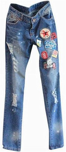 1000+ images about patched jeans on Pinterest | Patched