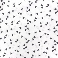 Tissu coton Poppy Triangle - gris/blanc x 10cm