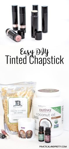 DIY Tinted Chapstick Making your own tinted chapstick is so simple. You'll wonder why you hadn't done it sooner!Making your own tinted chapstick is so simple. You'll wonder why you hadn't done it sooner! Natural Coconut Oil, Organic Coconut Oil, Organic Oil, Beauty And Fashion, Diy Beauty, Beauty Tips, Beauty Products, Beauty Hacks, Beauty Solutions