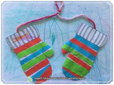 PETITES MOUFLES Dessiner, découper, coller... Crayons Cire, Christmas Stockings, Holiday Decor, Diy, Sensory Activities, Paper Strips, Draw, Needlepoint Christmas Stockings, Bricolage