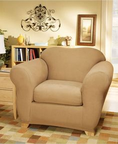 Sure Fit Stretch Suede Box Cushion Chair Bedding