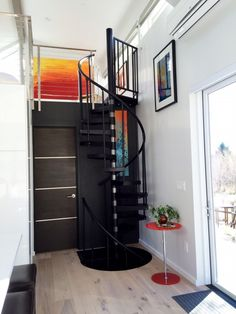 Choose your DIY or custom-made steel spiral stairs and beautify your home with our great steel spiral staircase kits and bespoke design options. Spiral Staircase Dimensions, Spiral Staircase Kits, Curved Staircase, Staircase Design, Stair Design, Staircase Ideas, Spiral Staircases, Design Patio, Loft Design