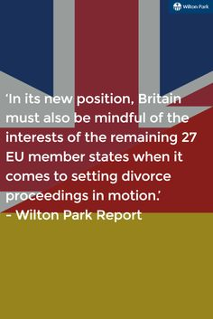 How can UK 'leave' the EU, respecting other countries whilst doing so? Full WPBGF report on our website