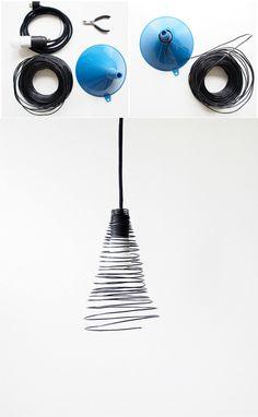 Lámpara con alambre recubierto