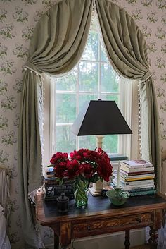 Gil Schafer guest room in Bowood Home, House Interior, Beautiful Doors, Arched Window Treatments, Bedroom Decor, Simple Bedroom, Bedroom Decor On A Budget, Home Interior Design, English Cottage Interiors