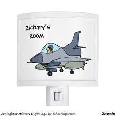 Jet Fighter Military Night Light