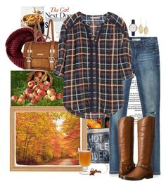 Apple Picking by momlifeandstyle on Polyvore featuring polyvore, fashion, style, Zara, Frye, River Island, FOSSIL, LULUS, TOMS, Sweet Lady Jane, clothing, momstyle, fall2015 and momlifeandstyle