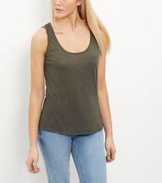 Khaki Single Pocket Vest | New Look