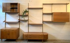 For sale: Poly-Z wall unit by A. Patijn for Zijlstra Joure, Vintage Designs, 1950s, Bookcase, The Unit, Storage, Wall, Home Decor, Nostalgia, Kunst