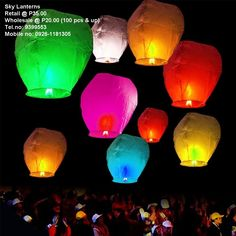 Buy Sky Lanterns Chinese Paper Sky Fire Candle Wish Wedding Flying Party Lamp at online store