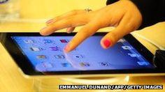 Hand and iPad