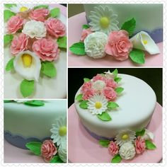 Wilton cake decorating course 3 Final cake (Gum paste & Fondant)