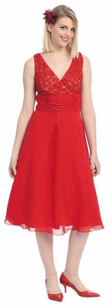 Red Graduation Dress Formal Empire Waist Dress Red Casual Dress $122.99