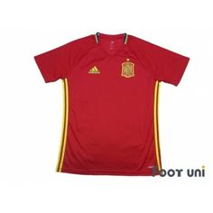 Spain Euro 2016 Home Authentic Shirt - Football Shirts,Soccer Jerseys,Vintage Classic Retro - Online Store From Footuni Japan Spain National Football Team, Spain Football, Retro Football Shirts, Adidas Football, Soccer Jerseys, Euro, Polo Ralph Lauren, Japan, Store