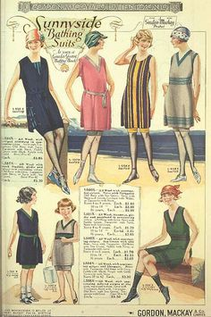 Sunnyside Bathing Suits ~ 1922 Gordon Mackay & Co General Catalogue