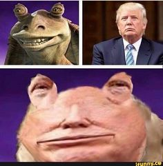 #jarjarbinks, #spicy, #AlternateFeatures, #donaldtrump, #donaldtrump2016