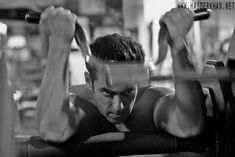 Sallu working out in the Gym.