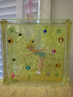 Tink Glasblock - Home Page Painted Glass Blocks, Decorative Glass Blocks, Lighted Glass Blocks, Glass Brick, Fire Glass, Hobbies And Crafts, Crafts To Make, Diy Crafts, Brick Crafts