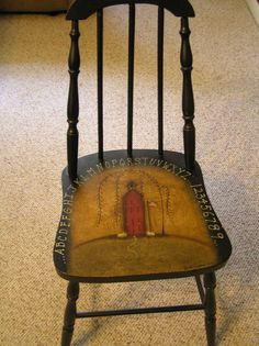 Simply Primitive Decorating Ideas | images of handpainted prim chair primitive craft ideas wallpaper