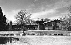 Quintin & Ruth Blair Residence. 1952. Cody, Wyoming. Usonian Style. Frank Lloyd Wright. Photo circa 1953