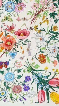pattern design Vintage Floral Prints, Floral Print Design, Floral Print  Fabric, Gucci Fabric 2ee72a2d9e3