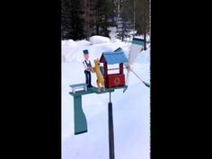A Man with a Dog (Craft Wooden Whirligig)