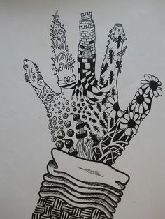 """Zentangle""  Great way for kids to experiment with and learn about pattern."