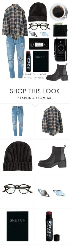 """No Shits Given"" by frenchiesfashion ❤ liked on Polyvore featuring Levi's, UNIF, H&M and Piccadilly"