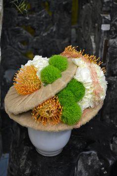 """Démonstration florale réalisée par Bp lors de """"rungis sensation"""" pour la société Penja à Rungis (2013).CFA Blagnac (France)."""