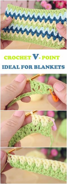 Learn To Crochet V-Point Ideal For Blankets