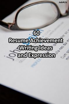 Resume Achievement Writing Ideas And Expressions