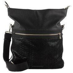 Coole schwarze Tasche 59,99 € <3 Hier kaufen: http://www.stylefruits.de/tasche-mit-reptilmuster-esprit/p5174501 #Lederoptik #Reptilmuster #fashion