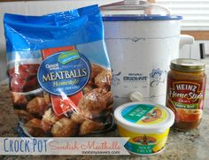 Crock Pot Swedish Meatballs (Only 3 Ingredients)