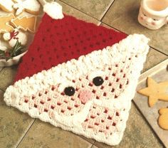 Santa Face Hot Mat can also make into a pillow