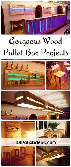 Gorgeous Wood Pallet Bar Projects | 101 Pallet Ideas