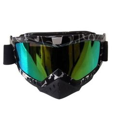 Ediors Adult Sports Motocross Offroad ATV Dirt Bike MX Racing Safety Goggles Eyewear Black Silver Frame Multi-color Tinted Lens Read more  at the image link.