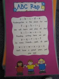 ABC rap + GREAT replace preschool for kinder