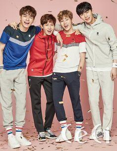 Seongwoo, Jaehwan, Sungwoon and Minhyun