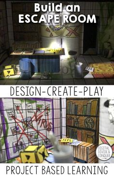 Would you like to play a game? Gameplay is huge these days from video games, a resurgence in board games, group outings to escape rooms, and breakout games. BUT instead of playing the game, what if your students design their own escape room? Build Your O Escape Room Design, Escape Room Diy, Escape Room For Kids, Room Design Images, E Design, Design Your Own Bedroom, Breakout Game, Bedroom Games, Youth Games