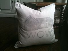 Personalized House Silhouette Down Throw Pillow by justusbelles, $60.00
