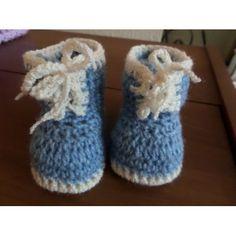 pale blue boys crochet trendy boots 6-12months