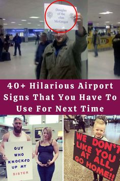 #Hilarious #Airport #Signs #Time Really Funny, Hilarious, Cute Funny Dogs, Cute Funny Animals, Diy Crafts For Girls, Diy Crafts To Do, Funny Animal Videos, Funny Animal Quotes, Cute Puppy Videos