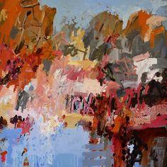 Here & Now opening at Murray Art Museum Albury @mamalbury Painting Horseshoe Lagoon Jetty, 1680mm x 1830mm, oil on Belgian linen. #hereandnow #murrayriver #australianart #mamalbury #australianlandscape #mamalbury