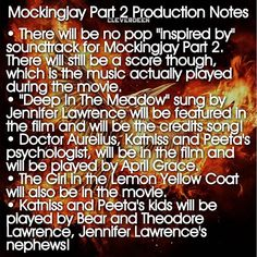 """@cleverdeen's photo: """"So much new information, including cast interviews, can be found in the Mockingjay Part 2 production notes at the link in my bio! Here are some of the highlights. •