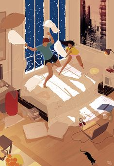 Campion, Pascal - Pillow FIght (pascalcampion- DeviantArt)